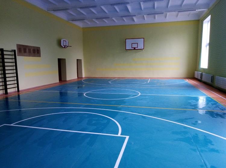 Внутренний ремонт спортивного зала пос. Донское
