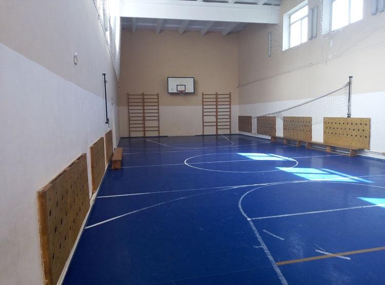 Ремонт спортивного зала школы им. Гаврилова, Озерский район