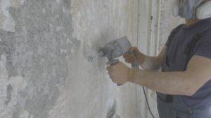 как удалить штукатурку с бетона быстро